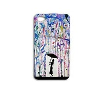 Water Color Rain Umbrella Beautiful Cute Phone Case iPhone 4 4s iPhone 5 5c 5s 6