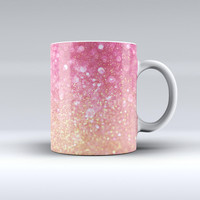 The Unfocused Pink and Gold Orbs ink-Fuzed Ceramic Coffee Mug