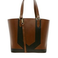 ASOS Leather Panel Shopper Bag at asos.com