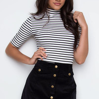 Perfect Strangers Skirt - Black