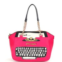 Betsey Johnson Typewriter Satchel | Dillards