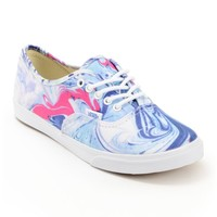 Vans Authentic Lo Pro Marble Blue & True White Shoes
