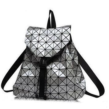 Diamond Lattice Backpack Folding Portable School Bag