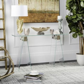 Safavieh Modern Glass Loft Console Table | Overstock.com Shopping - The Best Deals on Coffee, Sofa & End Tables