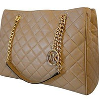 Michael Kors Susannah Womens Large Quilted Leather Handbag