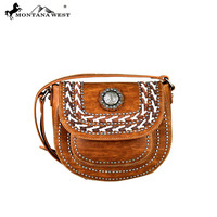 Western Concho Crossbody Saddle Bag