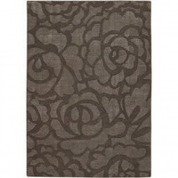 Chandra Rugs Pernille Chocolate Contemporary Rug - PER15401 - Silk Rugs - Area Rugs by Material - Area Rugs