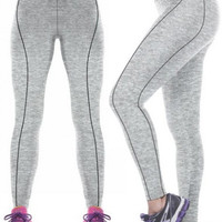 3D Grey Athlete Yoga Leggings