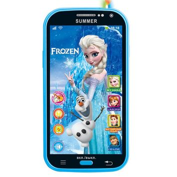 Disney Frozen Flash Musical Toy Recording Russian Princess Mobile Phone Puzzle Early Education Toys for Children Birthday Gift