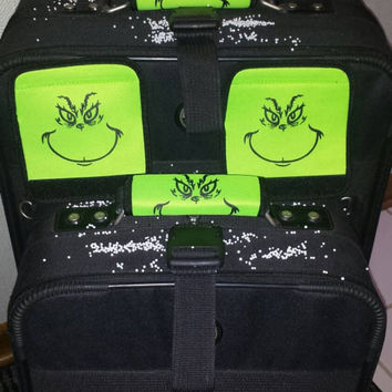 Bag TaG GRINCH LuGGaGe BaG HanDLe IDENTIFiER FuN GRinchMaS SToCking STuffeRS - NoW GRINCHes Can SPOT their LUGGAGE! BRiGHT Lime Green!