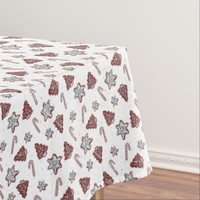 Ginger cookies Christmas pattern Tablecloth