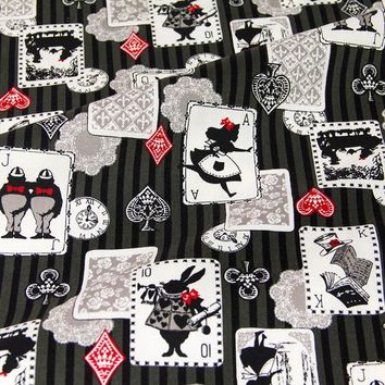 50cm*110cm Japanese Kokka Oxford Cotton Fabric Patchwork Quilting Fabric Alice in Wonderland C