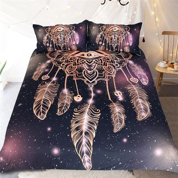 Cool KISS QUEEN DREAM CATCHER STYLE DUVET COVER SET KING QUEEN FULL TWIN SIZE BEDDING SET FOR BEDDING DECORATIONAT_93_12