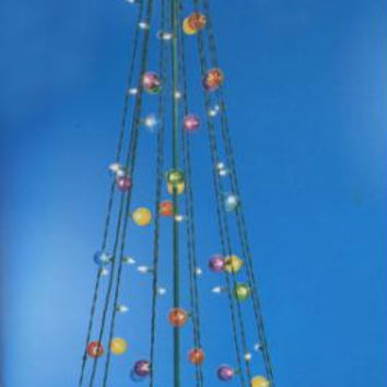 Christmas Tree Yard Art - 100 Mini Lights And 45 Ornament Light Covers