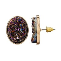 Mudd Oval Stud Earrings