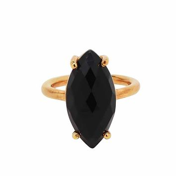 Marquise Gold Bezel Ring