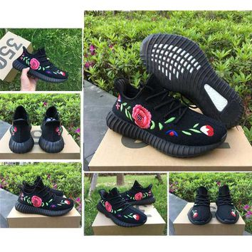 SPLY 350 V2 Boost Kanye West Black Rose Running Shoes Men Women Athletic Sports Trainer Sneakers Send With Box
