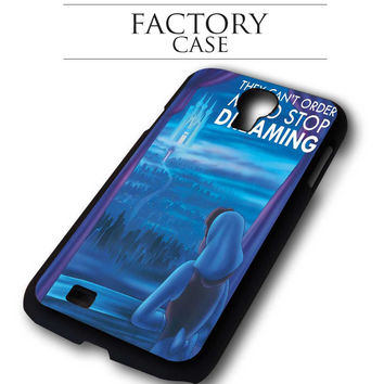 Disney Don't Stop Dreaming Cinderella iPhone for 4 5 5c 6 Plus Case, Samsung Galaxy for S3 S4 S5 Note 3 4 Case, iPod for 4 5 Case