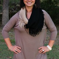Everyday Essential Piko Top in Mocha