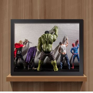 Nordic Decoration Superheroes Movie Canvas Art Poster Hulk Captain America Iron Man Thor Black Widow Avengers Canvas Painting