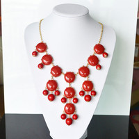 Red Bubble Necklace,holiday Party,b.. on Luulla