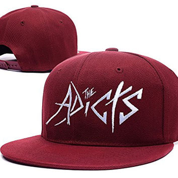 ZZZB The Adicts Band Logo Adjustable snapback Embroidery Hats Caps - Red