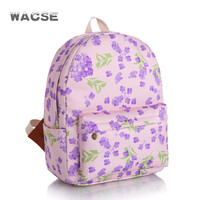 Canvas Pale Violet Stylish Fashion Casual Korean Backpack = 4888051652