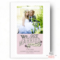 Marriage Announcement (Printable) We Got Married Card - We Got Hitched Cards - Wedding Announcement Elope - Just Married Announcement