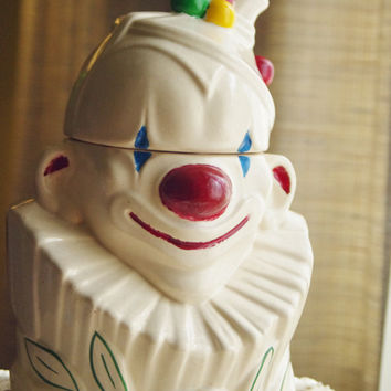 McCoy Vintage Clown Bust Cookie Jar