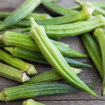 100 Clemson Spineless Okra Seeds Package, Tender, Flavorful, High Yield, non-GMO Cegetables Seeds easy to grow plant