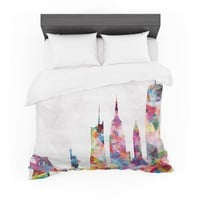 "Mareike Boehmer ""New York"" Rainbow City Featherweight Duvet Cover"