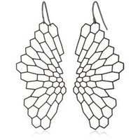 "Nervous System ""Radiolaria"" Black-Plated Earrings"