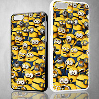 Minions Pattern Y1329 iPhone 4S 5S 5C 6 6Plus, iPod 4 5, LG G2 G3 Nexus 4 5, Sony Z2 Case