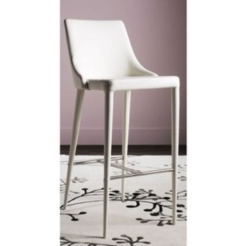 Safavieh Mid-Century Dining Summerset Modern 42-inch White Leather Bar Stool - 18942990 - Overstock.com Shopping - Great Deals on Safavieh Bar Stools