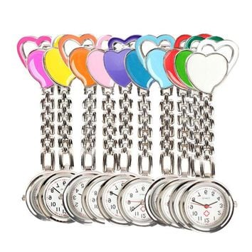 New Chest Pocket Watch Doctor Nurse Watch Warm Sweet Heart Quartz Fob Brooch Pocket Watch with Clip Gift LL