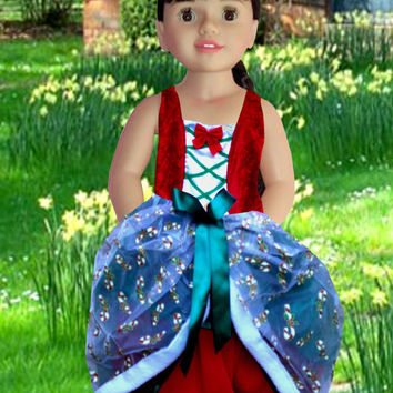 American girl doll clothes, Dolls fancy dress, 18 inches dolls, Girls Christmas gift, Girl Birthday gift,