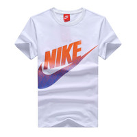 """Nike"" Men Fashion Casual Gradient Color Letter Print Round Neck Short Sleeve Cotton T-shirt"