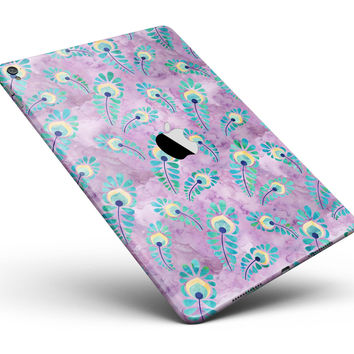 "Light Purple and Blue Watercolor Peacock Feathers Full Body Skin for the iPad Pro (12.9"" or 9.7"" available)"
