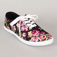 Wild Diva Lounge Marsden Floral Lace Up Sneaker