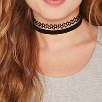Faux Leather Tattoo Choker Set
