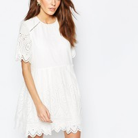 French Connection Josephine Emboidered Dress at asos.com