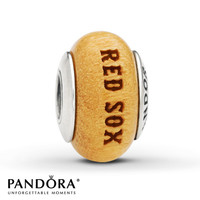 Pandora Wood Charm Boston Red Sox Sterling Silver