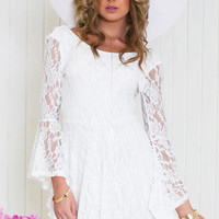 Hannah Lace Bell Sleeve Dress