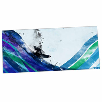 "Federic Levy-Hadida ""The Wave"" Teal Blue Desk Mat"