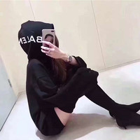 "Women Fashion ""Balenciaga"" Hooded Top Sweater Pullover Sweatshirt"