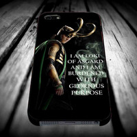 Loki Avengers I Am Loki for iPhone 4/4s/5/5s/5c/6/6 Plus Case, Samsung Galaxy S3/S4/S5/Note 3/4 Case, iPod 4/5 Case, HtC One M7 M8 and Nexus Case ***