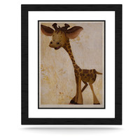 "Rachel Kokko ""Georgey The Giraffe"" Brown Tan KESS Naturals Canvas (Frame not Included)"