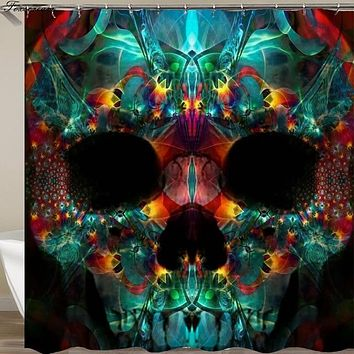 Sugar Skull shower curtain Waterproof