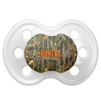 Hunting Camo Pacifier w/ Personalized Name from Zazzle.com