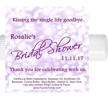 15 Purple Bridal Shower Lip Balm Favors